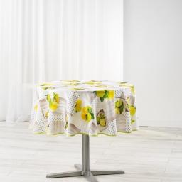 nappe ronde (0) 180 cm polyester imprime limoncello