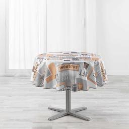 nappe ronde (0) 180 cm polyester imprime loft urbain