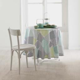 Nappe ronde (0) 180 cm polyester imprime mantra Vert