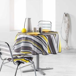 Nappe ronde (0) 180 cm polyester imprime marina Jaune