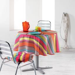 Nappe ronde (0) 180 cm polyester imprime marina Multico