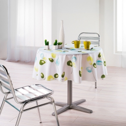 Nappe ronde (0) 180 cm polyester imprime mixi Vert