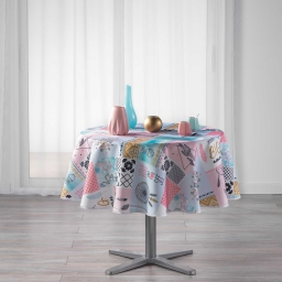 nappe ronde (0) 180 cm polyester imprime optima