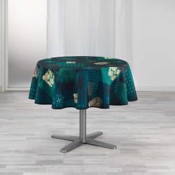 nappe ronde (0) 180 cm polyester imprime oreane