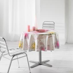nappe ronde (0) 180 cm polyester imprime romantic flower