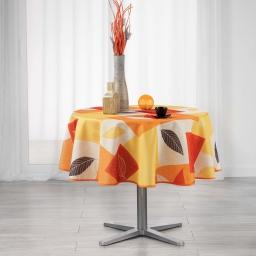 Nappe ronde (0) 180 cm polyester imprime soria Orange