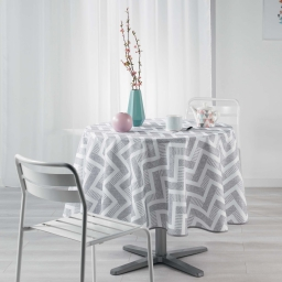 nappe ronde (0) 180 cm polyester imprime themis