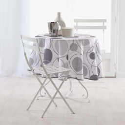 nappe ronde (0) 180 cm polyester imprime toupie