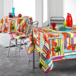 nappe ronde (0) 180 cm polyester photoprint basque