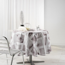 Nappe ronde (0) 180 cm polyester photoprint clarte Blanc