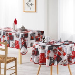 nappe ronde (0) 180 cm polyester photoprint floconette