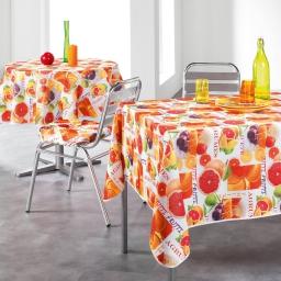 nappe ronde (0) 180 cm polyester photoprint frutti