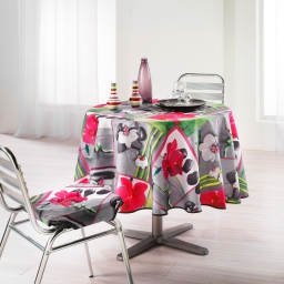 nappe ronde (0) 180 cm polyester photoprint orchidee