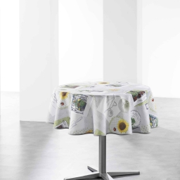 nappe ronde (0) 180 cm polyester photoprint petit potager