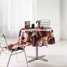 nappe ronde (0) 180 cm polyester photoprint ristretto