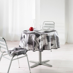 nappe ronde (0) 180 cm polyester photoprint sommelier