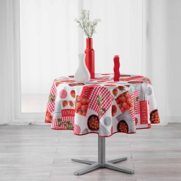 nappe ronde (0) 180 cm polyester photoprint tomato party