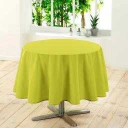Nappe ronde (0) 180 cm polyester uni essentiel Anis