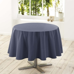 Nappe ronde (0) 180 cm polyester uni essentiel Beton