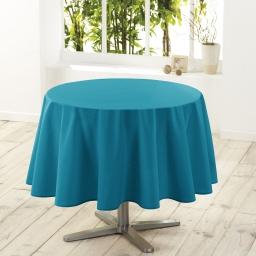 Nappe ronde (0) 180 cm polyester uni essentiel Bleu