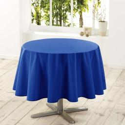 Nappe ronde (0) 180 cm polyester uni essentiel Indigo