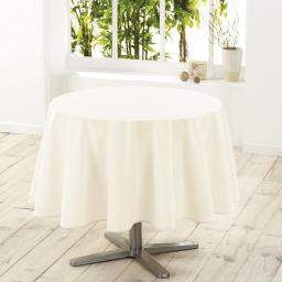 Nappe ronde (0) 180 cm polyester uni essentiel Naturel