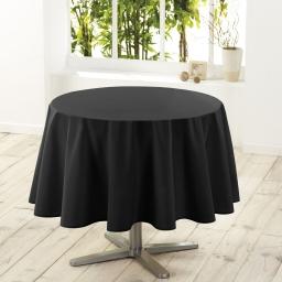 Nappe ronde (0) 180 cm polyester uni essentiel Noir