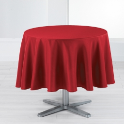 Nappe ronde (0) 180 cm polyester uni punchy Rouge