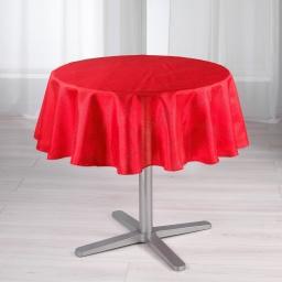 Nappe ronde (0) 180 cm shantung applique scintille Rouge
