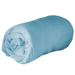 New drap housse 2 personnes 140 x 190 cm jersey uni jersy Bleu