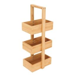 organiseur 3 paniers bambou h.60*l.18*p.25cm - douceur d'interieur
