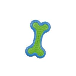 os en caoutchouc 6*11.5cm - bleu et vert