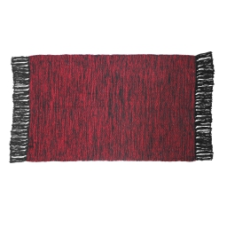 P tapis rectangle 50 x 80 cm coton jacquard pitcho  382557 Rouge