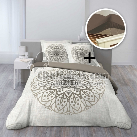 pack parure housse couette 260x240 + 2 to