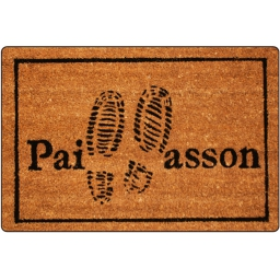 paillasson rectangle 40 x 60 cm coco imprime pas