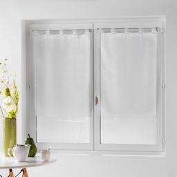 Paire droite passants 2 x 60 x 160 cm voile fils coupes dandy Blanc