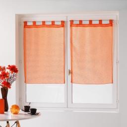 Paire droite passants 2 x 60 x 90 cm voile fils coupes dandy Orange