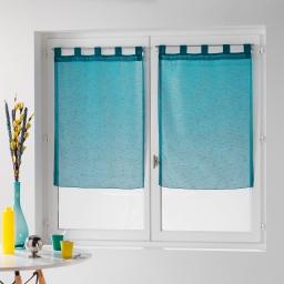 Paire droite passants 2 x 60 x 90 cm voile fils coupes dandy Turquoise