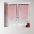 Paire pompon passants 2 x 60 x 120 cm voile double imprime/uni tunis Corail, image n° 1