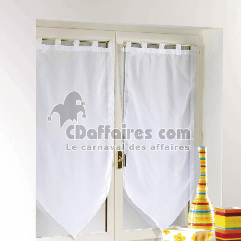 paire pompon passants 2 x 60 x 120 cm voile uni voiline. Black Bedroom Furniture Sets. Home Design Ideas