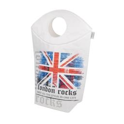 panier a linge 54xh76cm -douceur d'interieur theme london rocks
