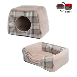 panier chien 2 en 1 design scottish 40*30*30cm