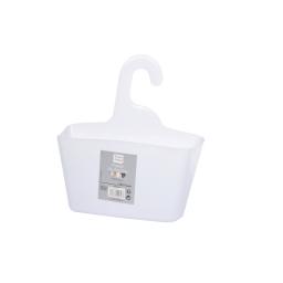 Panier de douche a suspendre 25.5 x 23.5 x 8.5 cm plastique vitamine Blanc