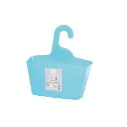 Panier de douche a suspendre 25.5 x 23.5 x 8.5 cm plastique vitamine Bleu ocean