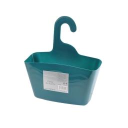 Panier de douche a suspendre plastique vitamine bleu emeraude Bleu/emeraude