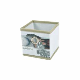 panier de rangement 12*12*12cm douceur d'interieur design zebre