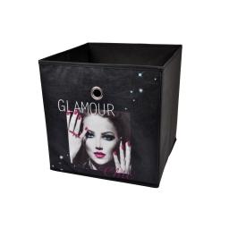 panier de rangement 26*26*26cm douceur d'interieur design glam chic 100% pol