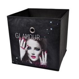 panier de rangement 31*31*31cm douceur d'interieur design glam chic 100% pol