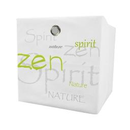 panier de rangement 31*31*31cm douceur d'interieur theme nature zen 100% polyest