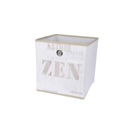 panier de rangement intissé 12cm zen wood